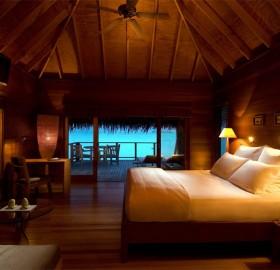 inside the maldive villa