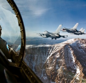 f-16 falcon with a view that will leave you breathless
