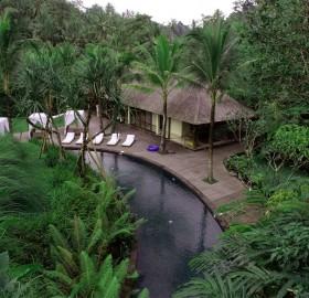 bali resort, deep into jungle