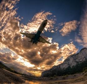 flight through a fisheye