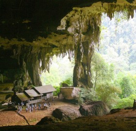 houses in a cave