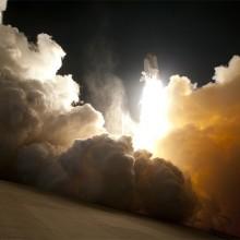 launching space shuttle