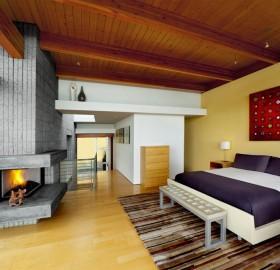 modern fireplace room