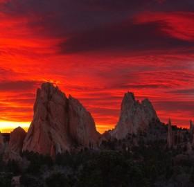 spectacular sunrise, gods park, colorado