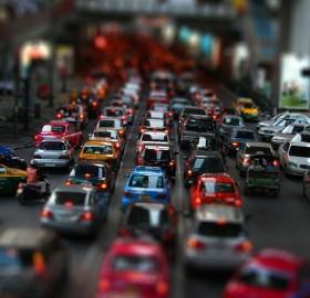 traffic in tilt shift