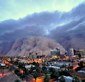 dust storm over pheonix
