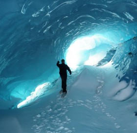 ice tunnel of antarctica