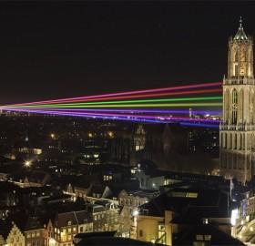 laser show in utrecht, holland