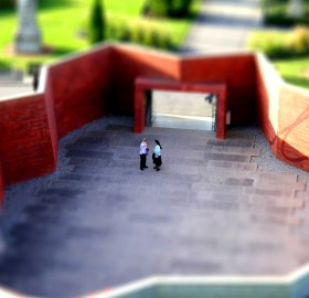 tilt shift nun