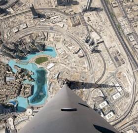 view from the top of burj khalifa, dubai