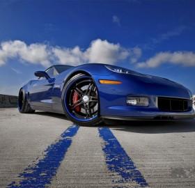 awesome blue corvette z06
