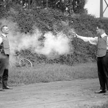 testing of a bulletproof vest in 1923