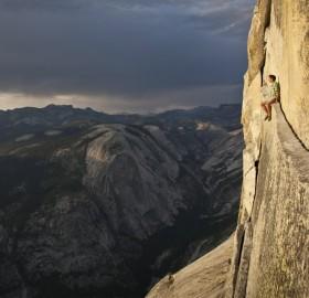 free climber and california`s yosemite valley
