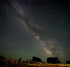 milky way over idaho
