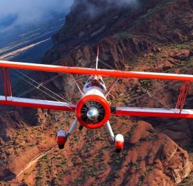 red baron boeing above arizona