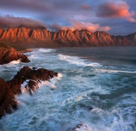 sunset at kogel bay, south africa