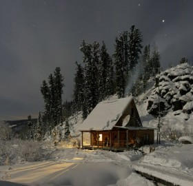 forest lodge in siberia