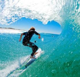 surfing at south stradbroke island