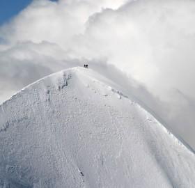 western breithorn, european alpes