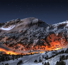 lights of the mountain