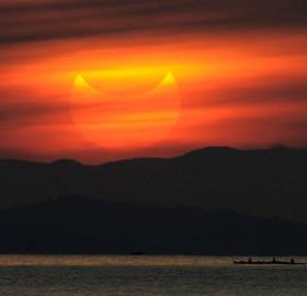partial solar eclipse, manila