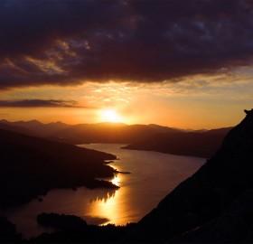 sunset over loch katerine