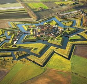 fort bourtange in groningen, netherlands