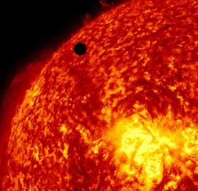 transit of venus across the face of the sun