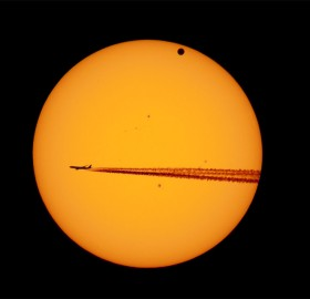 venus transit and the airplane
