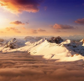 Stunning Mountain Scenery of Swiss Alps