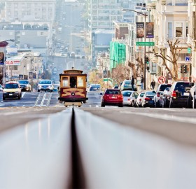 a beautiful street of san francisco