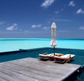 pool in the sea, rangali island maldives