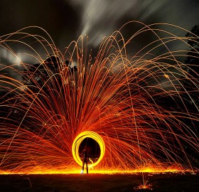 sparkle long exposure circle