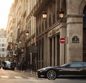 aston martin at streets of paris