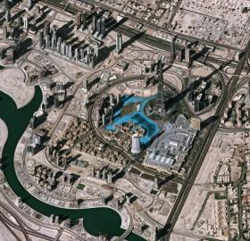 dubai, as seen from space