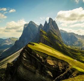 stunning dolomites mountains, italy