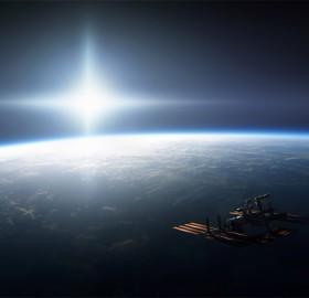 science power platform orbiting earth