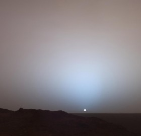 sunset seen from mars