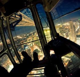 view from toronto crane