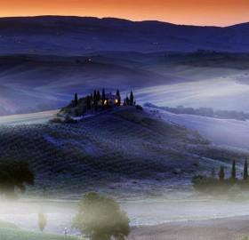 a hilltop villa, tuscany, italy
