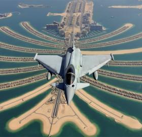 eurofighter typhoon above dubai