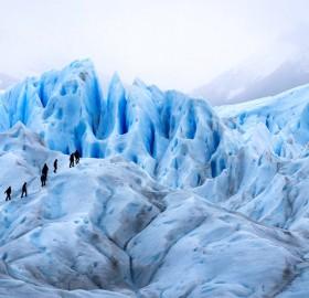 trekking on a glacier, argentina