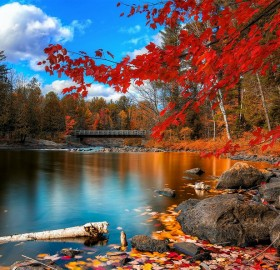 colors of oxtongue rapids, canada