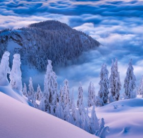 stunning view above the clouds