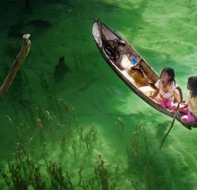 transparent river, malaysia