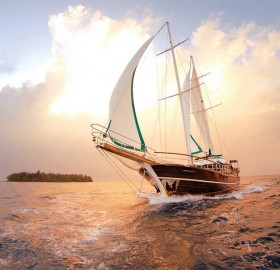 sailing through maldives