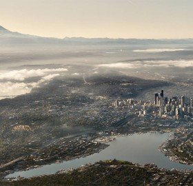 seattle from air
