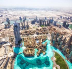 dubai from burj khalifa, united arab emirates