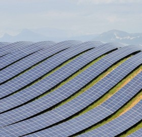 huge solar farm, france