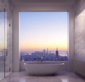 park avenue master suite bathroom, new york